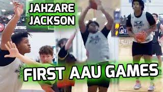 "7'0"" Jahzare Jackson Starts His AAU SEASON! Plays With IMG's Travel Team And Looks DOMINANT 😤"
