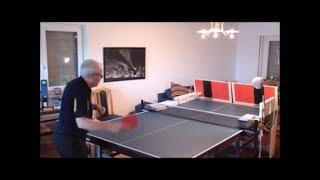 So wie ich allein zuhause Tischtennis trainiere