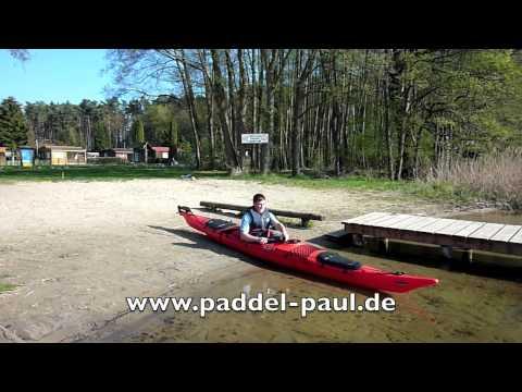 Einweisung Wander Kajak mit Paddel Paul