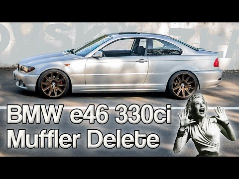 Stock BMW E46 330ci Muffler Delete Brutal Exhaust Sound