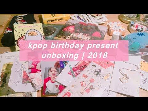 kpop birthday present unboxing | 2018