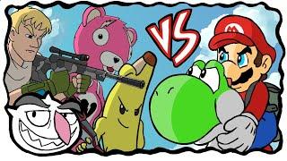 Super Mario VS Fortnite