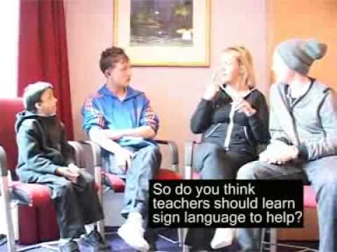 Screenshot of video: Training teachers- Deaf Awareness in schools