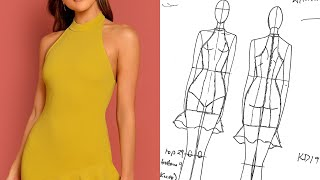 HOW TO MAKE HALTER NECK DRESS PATTERNS | KIM DAVE