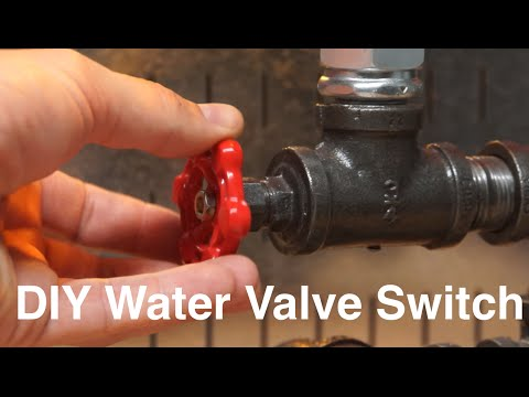 DIY Water Valve Light Switch.