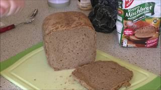 Mischbrot im Brotbackautomaten von Rommelsbacher gebacken