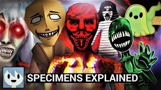 All Specimens from Spooky's Jumpscare Mansion Explained!