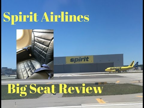 Spirit Airlines big seat review WORTH IT