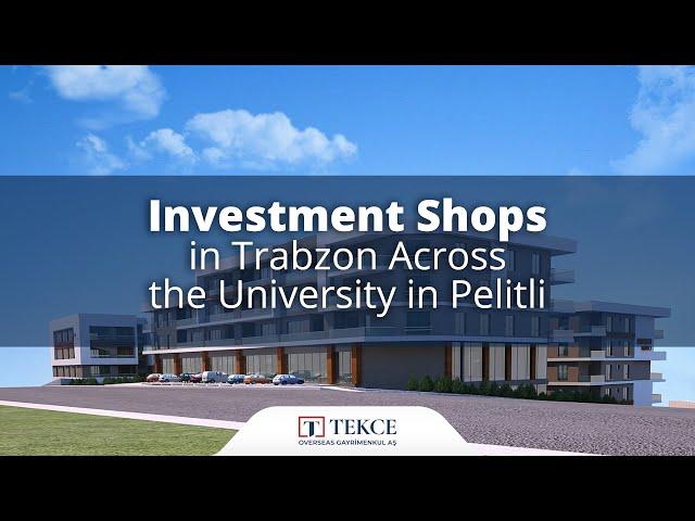 Capacious Shops Close to Social Amenities in Trabzon Turkey