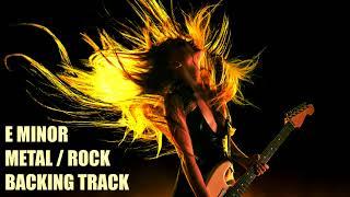 E Minor // Hard Rock Metal // Backing Track // For Beginners // 105BPM
