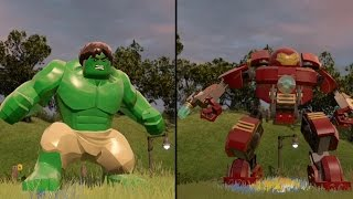 LEGO Marvel's Avengers - Green Hulk vs Hulkbuster - CoOp Fight | Free Roam Gameplay [HD 1080p]