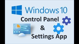 Windows 10 - Control Panel & Settings App - How to Change View and Personalize your Microsoft MS PC