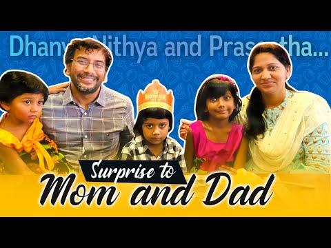 Surprising Mom and Dad|| Dhanya Nithya & Prasastha 😅😂