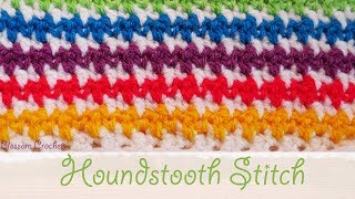 Simple Crochet: Houndstooth Stitch (Blankets / Scarf)