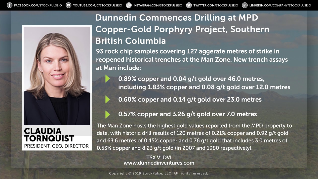 Dunnedin Commences Drilling at MPD Copper-Gold Porphyry Project