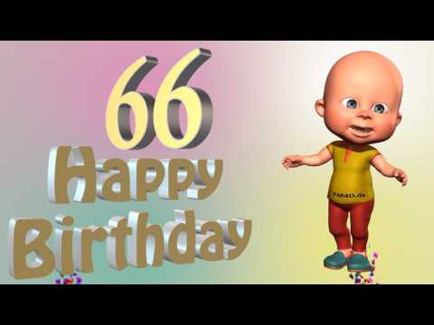 Lustiges Geburtstags Video Alter 66 Jahre Happy Birthday to you 66
