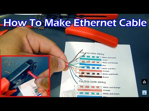 How to make CAT5 Ethernet Cable – Straight Through & Crossover (HD)