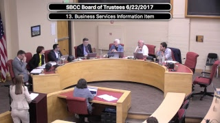 SBCC Board Of Trustees 6/22/2017
