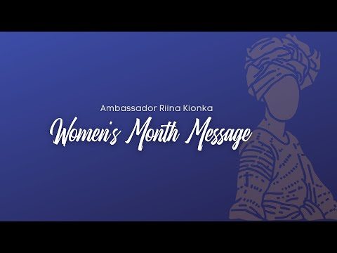 Women's Month Message: Ambassador Riina Kionka