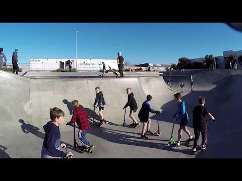 Bring a friend to skatepark Saturday.