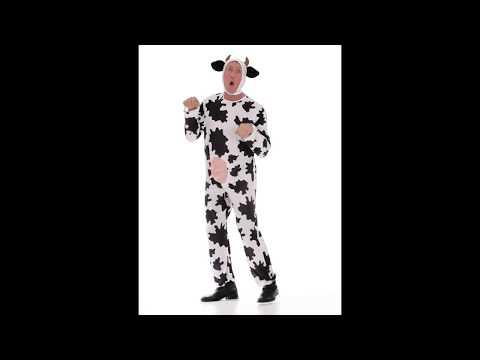 Disfraz de Vaca Divertida para adulto.