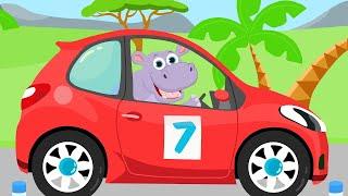Машинки 2 - Кто в машине едет помоги нам угадай. Детская песенка про животных