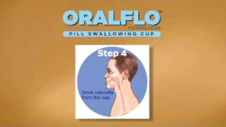 Trouble Swallowing Pills?  The Oralflo Pill Swallowing Cup is the Answer.