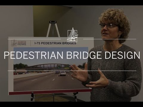 Michigan Interchange Pedestrian Bridge design