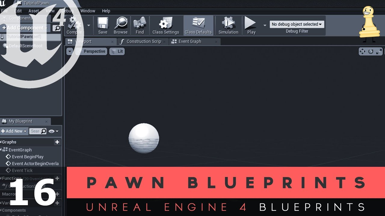 Pawn Blueprints - #16 Unreal Engine 4 Blueprints Tutorial Series