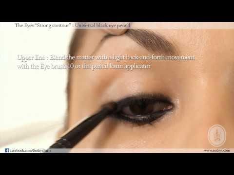 Výraznější večerní líčení očí