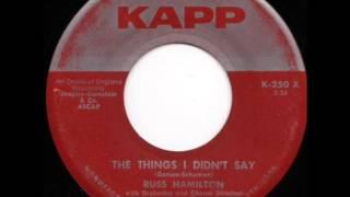 RUSS HAMILTON  The Things I Didn't Say  1958
