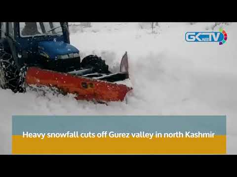 Heavy snowfall cuts off Gurez valley in north Kashmir