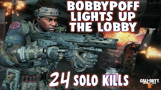 BOBBY LIGHTS UP THE SOLO LOBBY WITH 24 KILLS - CoD BLACKOUT