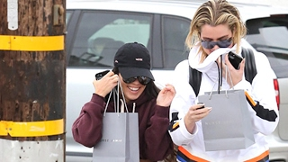 Kourtney Kardashian Keeps Khloe Company As Scott Parties In Miami