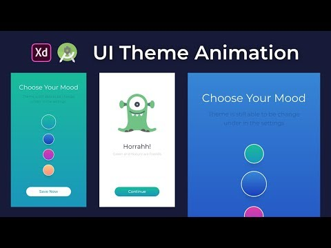 Android Studio Tutorial — UI App Theme Animation