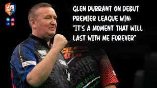 "Glen Durrant on debut Premier League win: ""It's a moment that will last with me forever"""