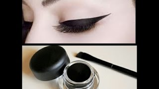 DIY-MAKE YOUR OWN GEL LINER AT HOME/HINDI/SMUDGE POOF/INDIAN BEAUTY SOLUTIONS