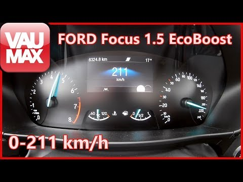 2020 Ford Focus 1.5 EcoBoost (150 PS) Beschleunigung 0-100 km/h | Tachovideo | Acceleration 0-60 mph