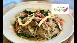 Classic JapChae Recipe 잡채: Sweet Potato Glass Noodles Stir-Fried with Vegetables - Modern Pepper #6