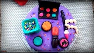 ফনডেন্ট দিয়ে মেকআপ কেক    Fondant Decoration Cake Bangla    Fondant Makeup Cake