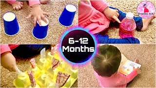 4 SIMPLE ACTIVITIES FOR 6-12 MONTH BABIES | DIY BABY ENTERTAINMENT | SENSORY & MOTOR GAMES FOR BABY