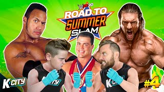 The Rock vs Triple H vs Kurt Angle! (Road to SummerSlam Tower Level 4 in WWE 2k20!) K-CITY GAMING