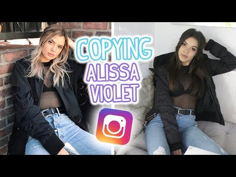 COPYING ALISSA VIOLET'S INSTAGRAM FOR A WEEK