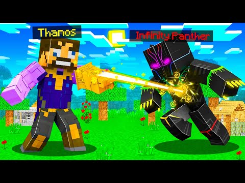 Fighting THANOS as INFINITY PANTHER in Insane Craft
