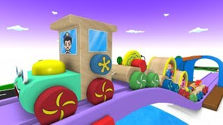 Construction Toy Train - Cartoon for Kids - Videos for Children - Kids Videos for Kids - Toy Factory
