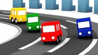 Мультик про машинки: 4 Машинки и гонки с препятствиями