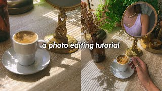 a photo editing tutorial on my visual aesthetic