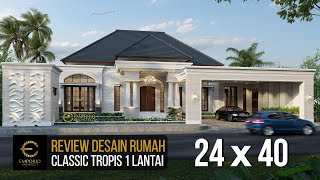 Video Mr. Hendry Classic House 1 Floor Design - Riau