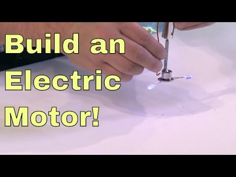 DIY | Build a Simple Electric Motor! – Science Experiment – Neodymium Magnet + Electricity = Motor!