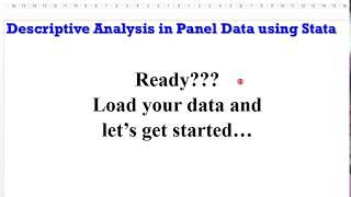 (Stata13) - Panel Data Descriptive Analysis (Tables) #paneldata #tables #descriptivestats